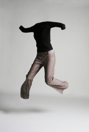 NoBody Series - woman jumping in the air