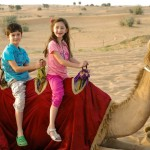Markos and Emma on a Camel