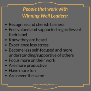 People that work with winning well leaders...