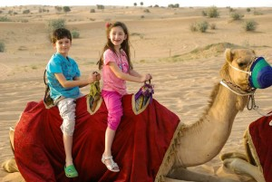 Markos and Emma on a Camel