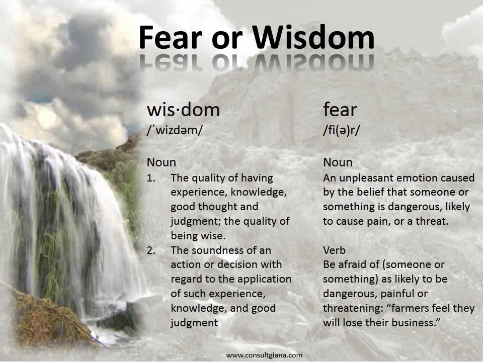 Fear or Wisdom