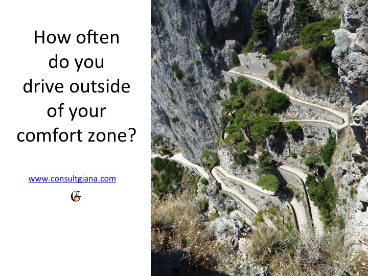How often do you drive outside of your comfort zone?