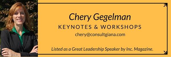 Chery Gegelman Keynotes and Workshops