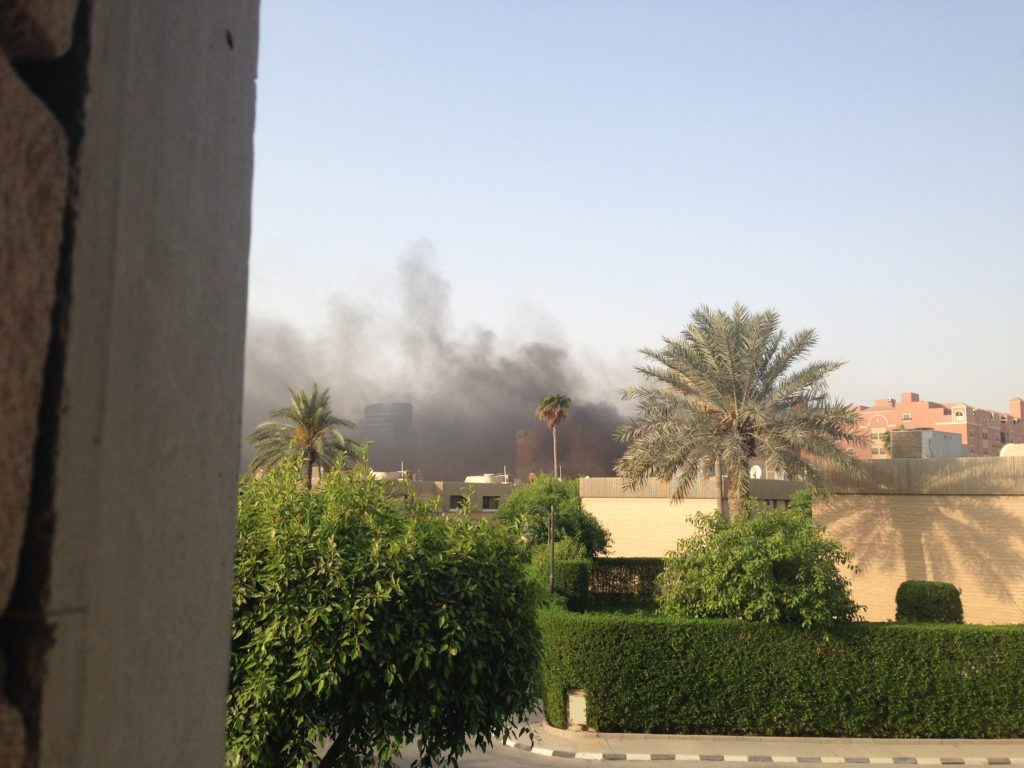 Expat Apartment Building on Fire in KSA
